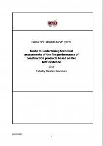 Guide to undertaking technical assessmentsof the fire performance of construction products based on fire test evidence